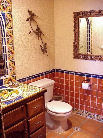 Possibilities with mexican tile tropical farm house for Banos rusticos mexicanos