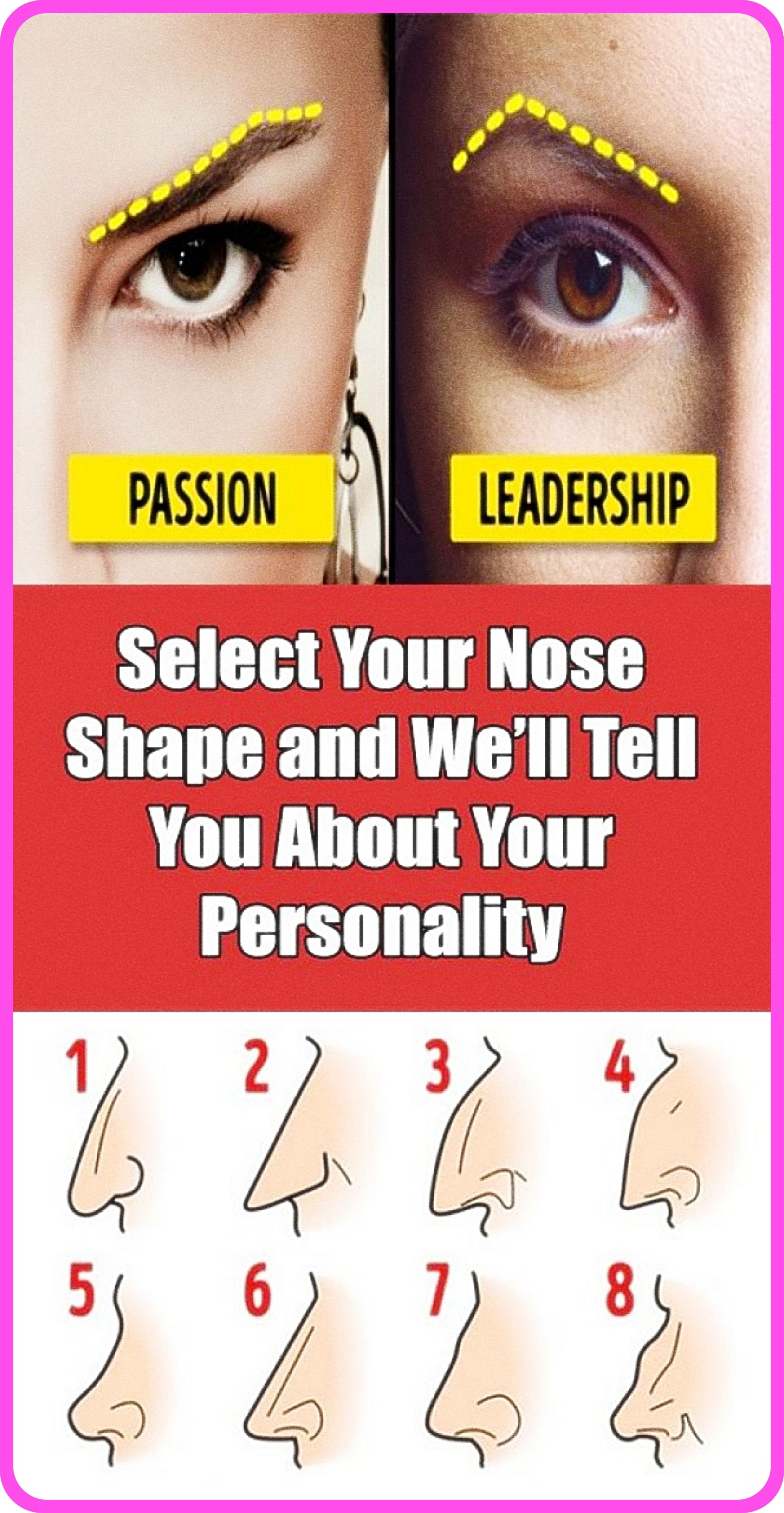 Here�s What The Shape Of The Nose Says About Your