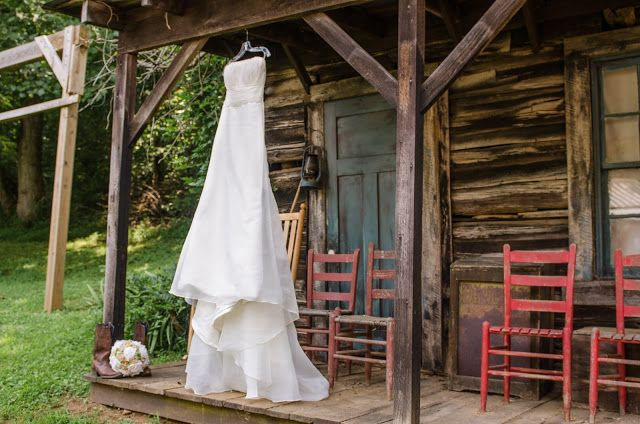 Rustic country wedding, cabin, red, cowboy boots, burlap;   Crystal Reyns Photography: Powers Wedding l Bedford, Va Wedding Photographer