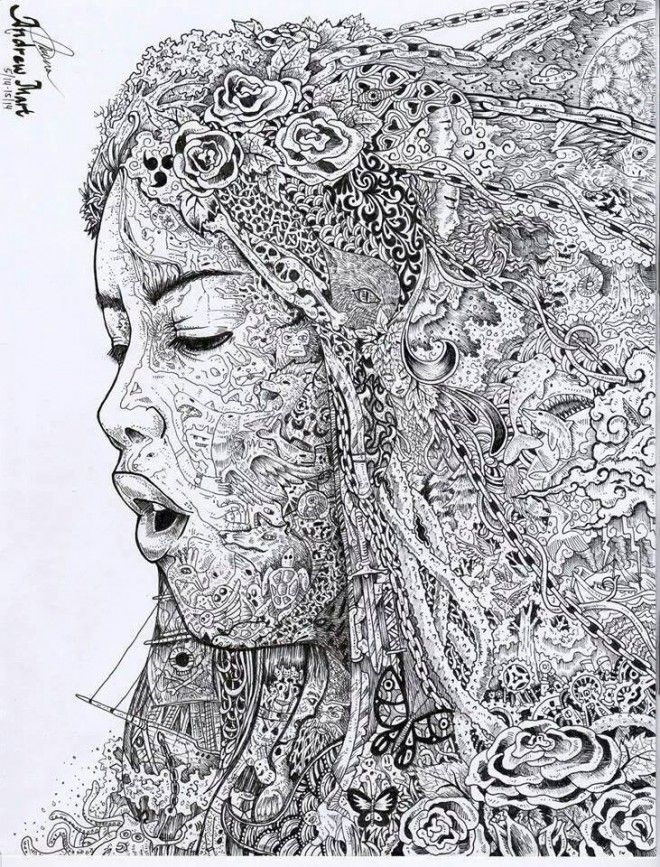 Scribble Drawing Meaning : Awesome doodle art works from around the world