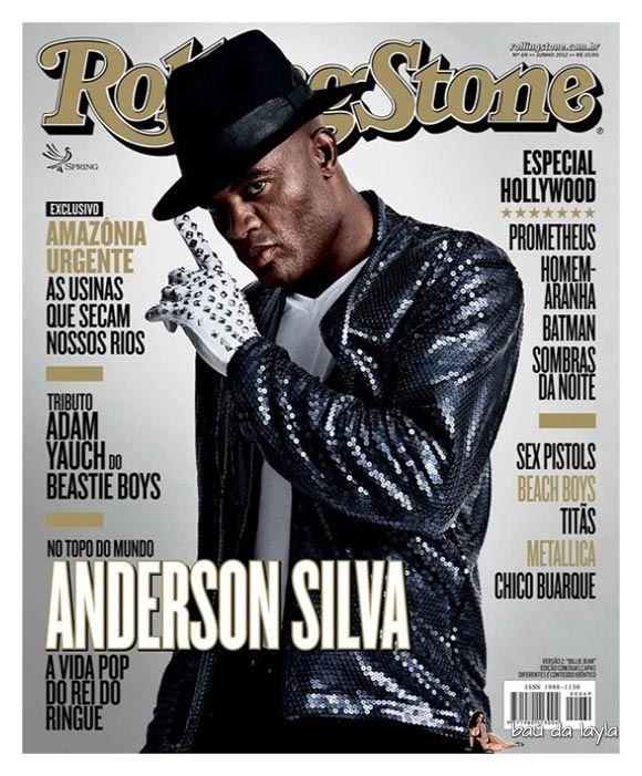 Anderson Silva Encarna Michael Jackson Em Ensaio Para A Rolling Stone Brasil Anderson Silva Rolling Stone Magazine Cover Rolling Stones Magazine