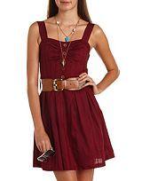 Trendy Dresses, Skater Dresses, Black & White Dresses, Glam Dresses: Charlotte Russe