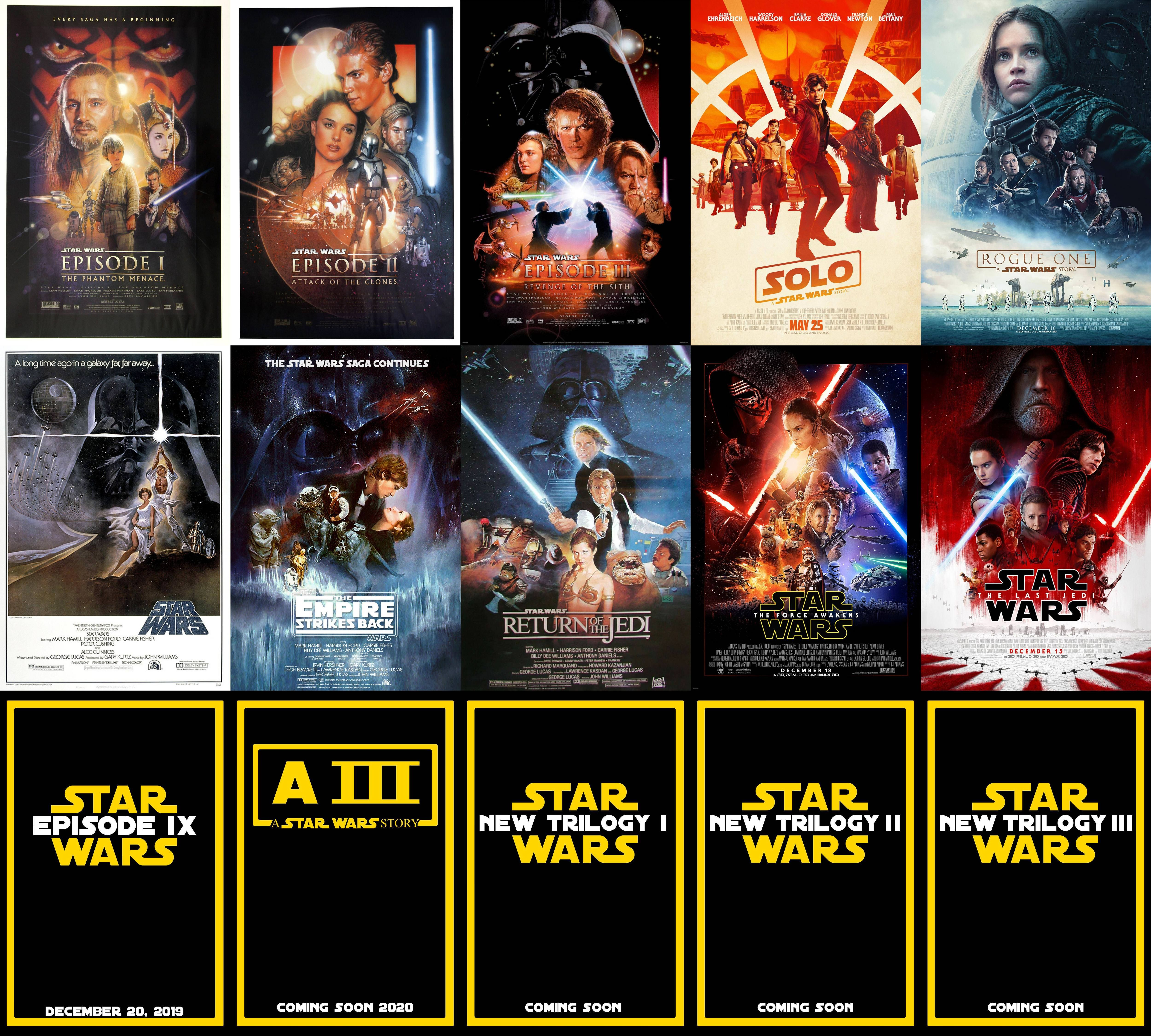 Star Wars 2 Epic Space Opera Film Series Poster Galaxy Trilogy Photo Cinema