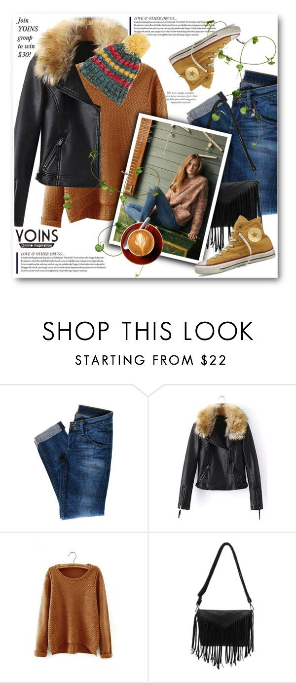 """""""Yours inspiration YOINS"""" by svijetlana ❤ liked on Polyvore featuring Hudson Jeans, Converse and yoins"""