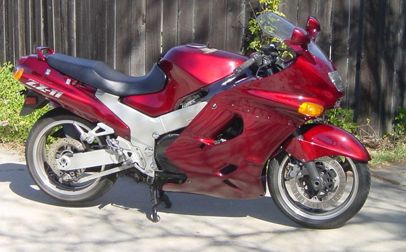 1993 ZX 11 D WineBerry Red Muzzy Exhaust
