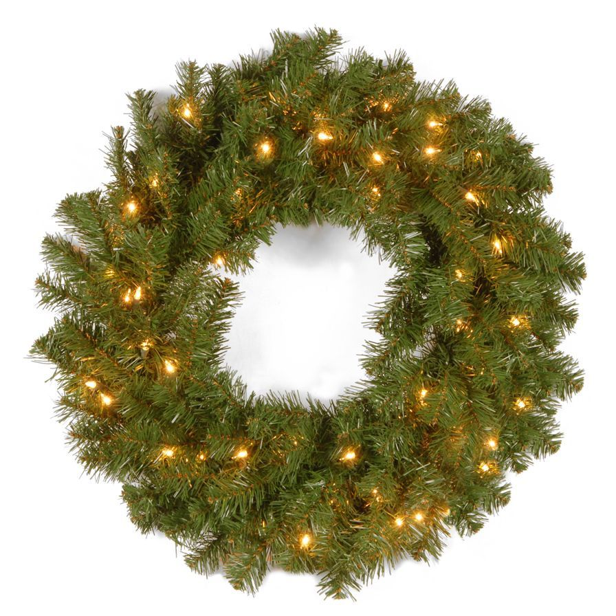 National Tree Company Kincaid 24-inch Wreath With Clear Lights