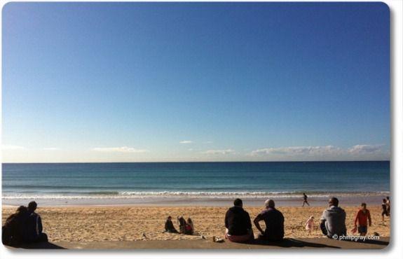 Winter's morning on Manly Beach, Sydney
