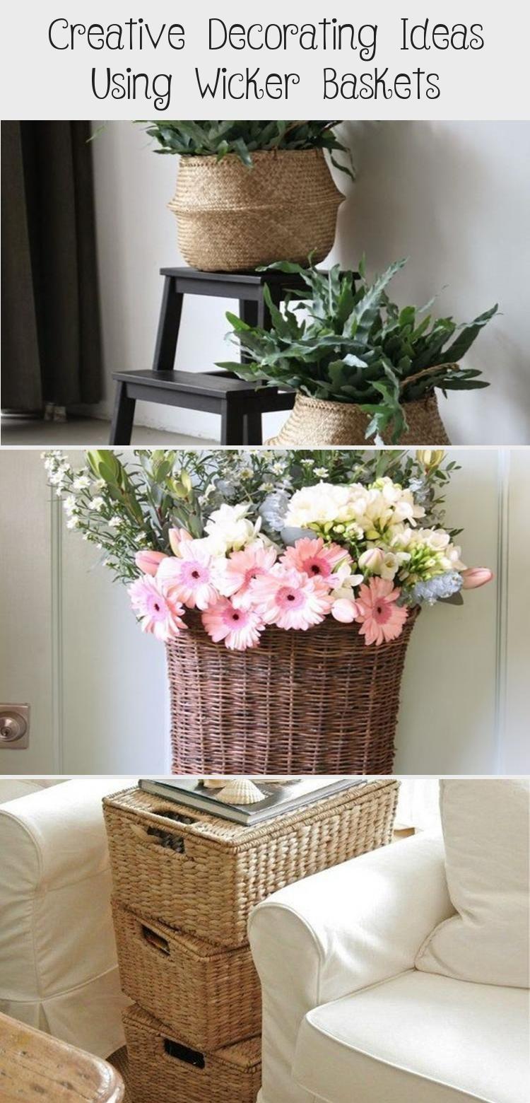 Creative Decorating Ideas Using Wicker Baskets Homedecor