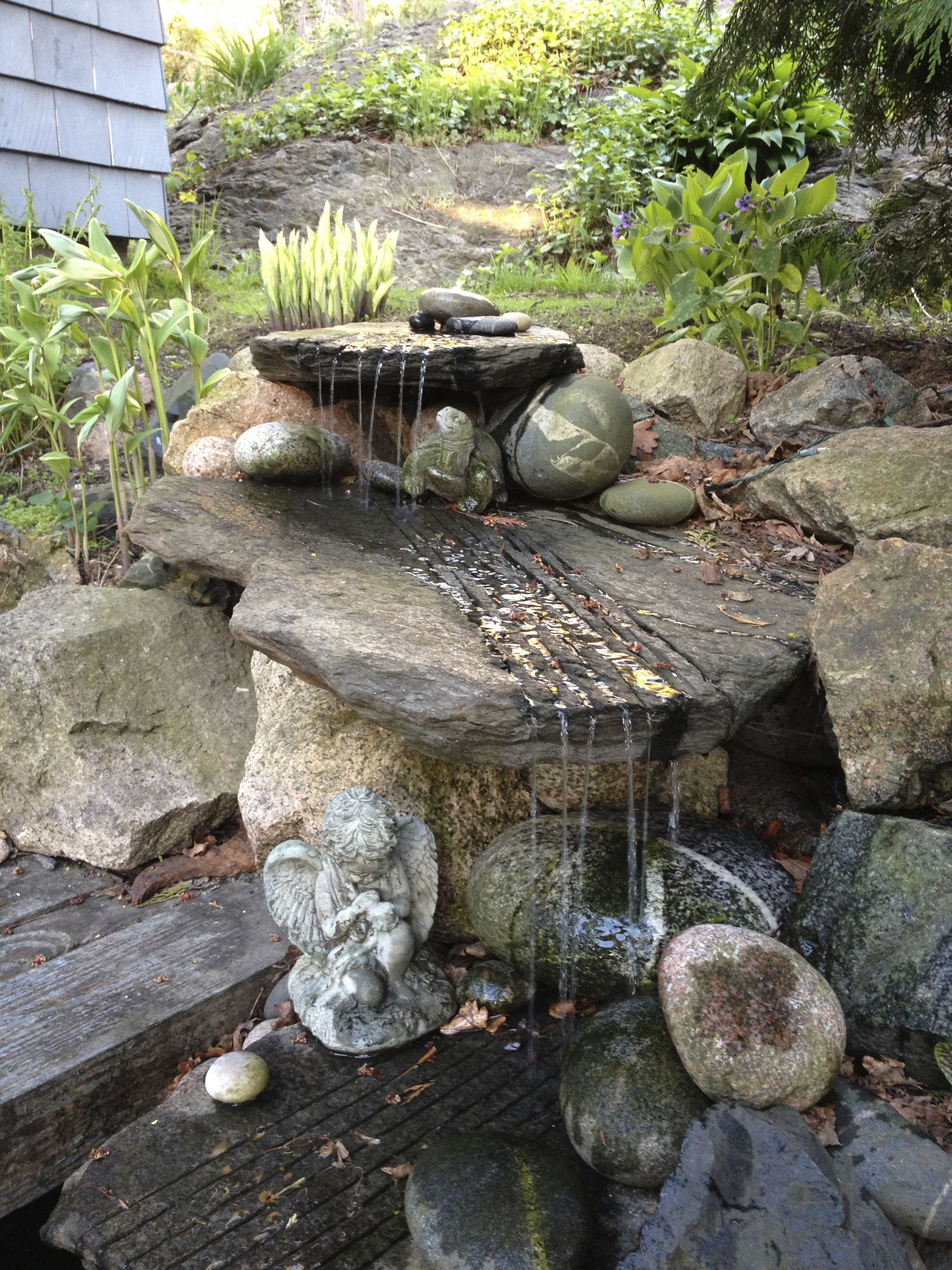 The fountain in spring.