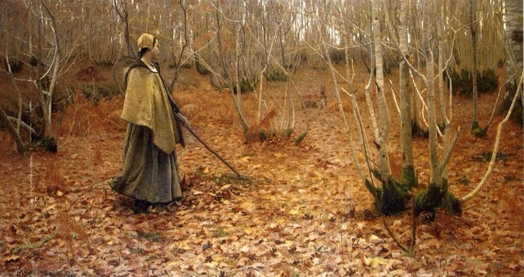 'Noviembre' (1881) by Lovell Birge Harrison