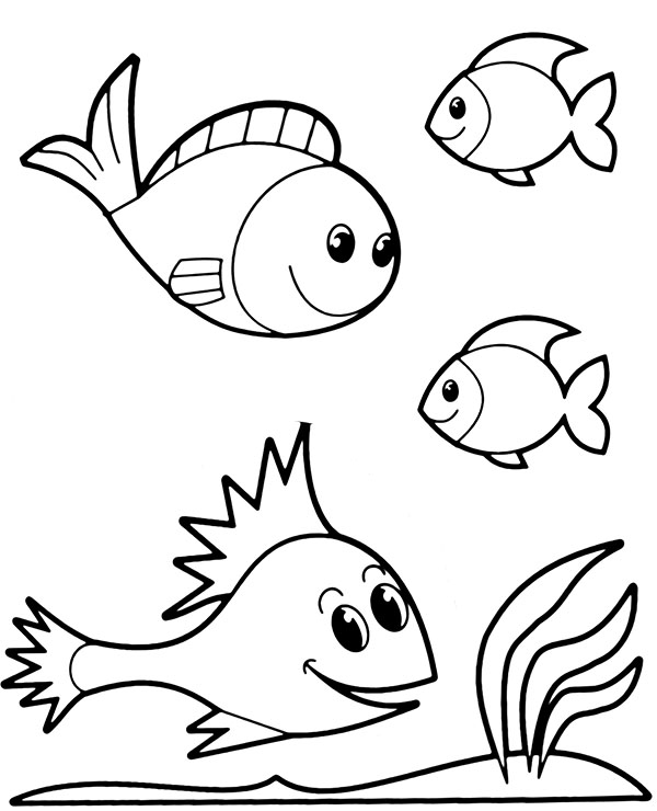 Four Fish Coloring Printables To Print Or Download Coloring Sheet Fish Coloring Page Animal Coloring Pages Coloring Pages For Kids