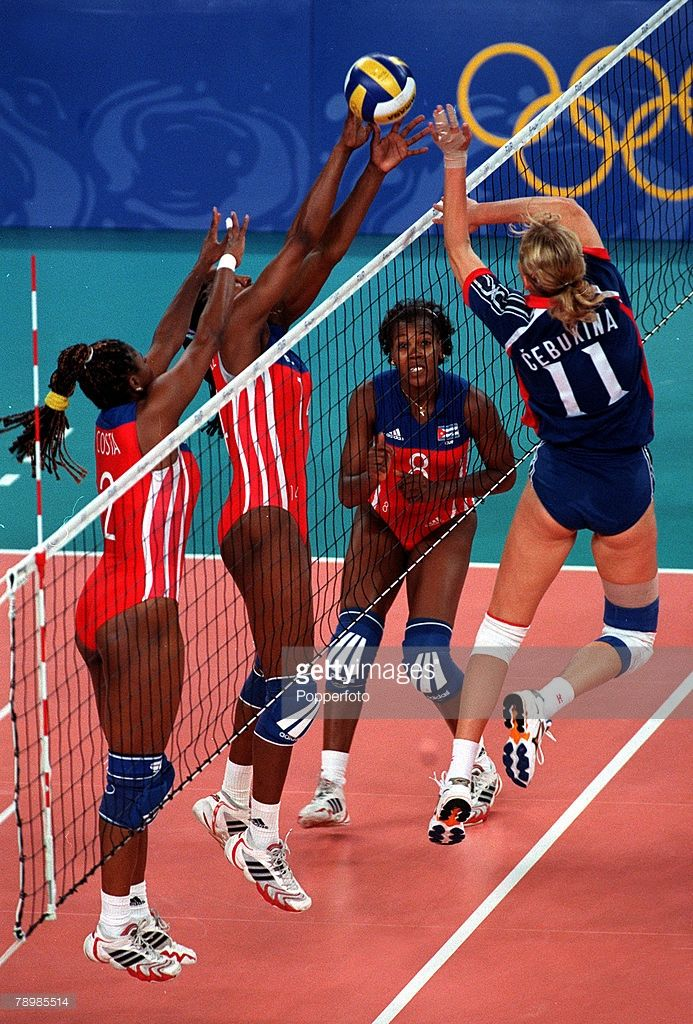 Olympic Games Sydney Australia Women S Volleyball 26th September 2000 Cuba V Croatia Cuba S Regla Torres Chall In 2020 Women Volleyball Volleyball Olympic Games