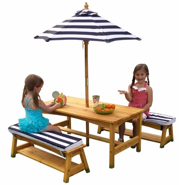 Costco Kids Outdoor Table And Umbrella Set Outdoor Patio Set For Kids Kids Outdoor Table Table And Bench Set Wooden Outdoor Table