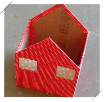 Manitas: Casitas de cartón y tela