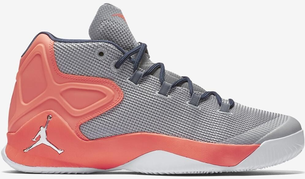50515ddbc1b5bb Jordan Melo M12 Wolf Grey Metallic Silver-Hyper Orange Orange Sneakers