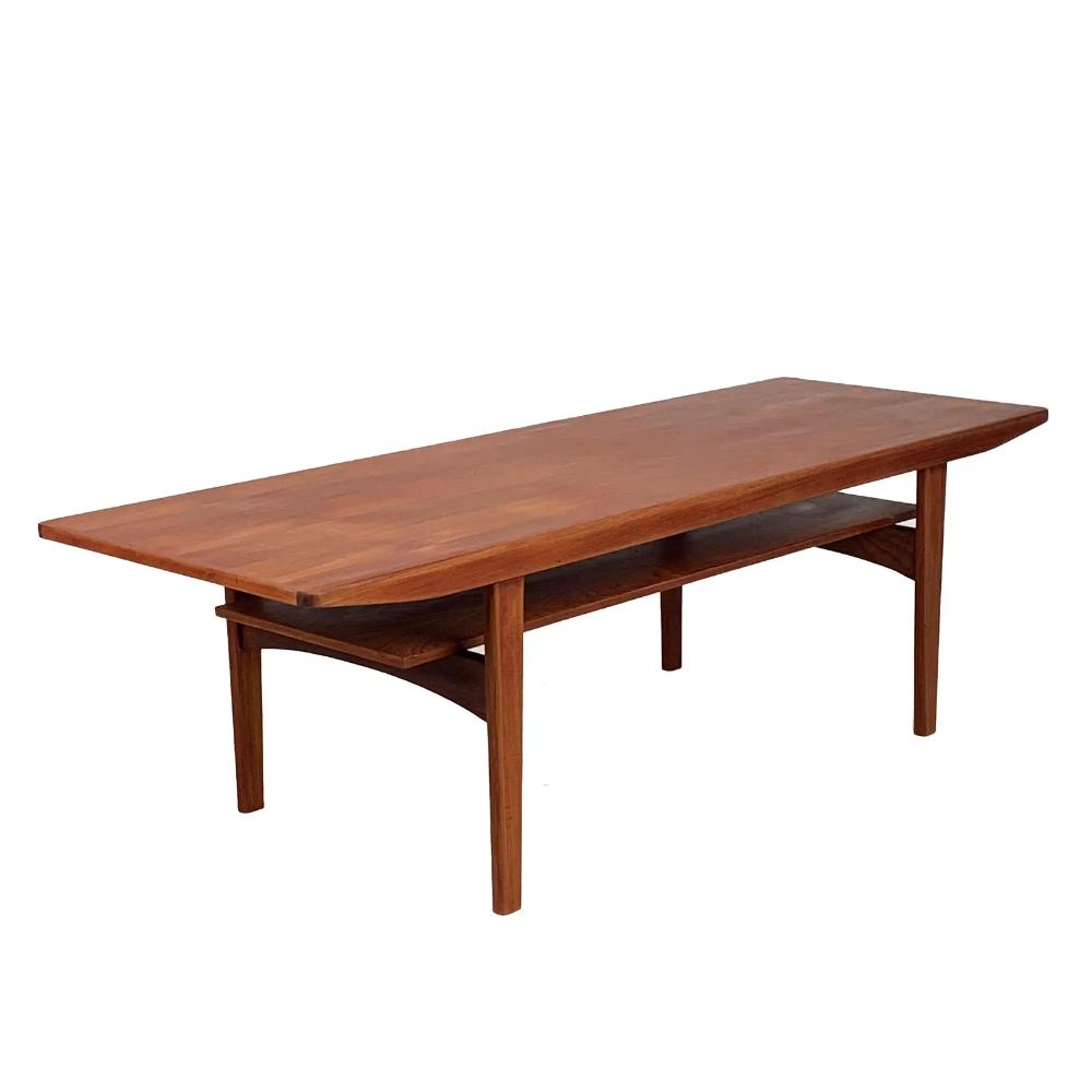 Vintage Danish Teak Coffee Table With Shelf Chairish Coffee Table Teak Coffee Table Coffee Table With Shelf [ 1000 x 1000 Pixel ]