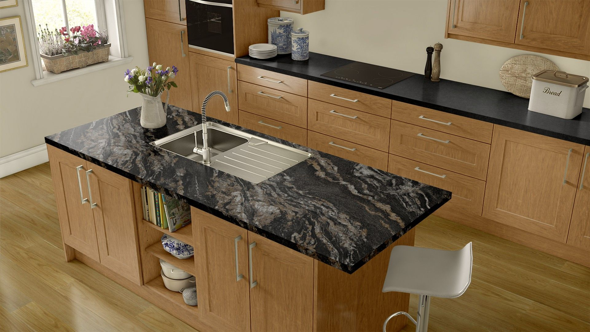 Island Magnata Countertop Luna Night Kitchen Remodel Room
