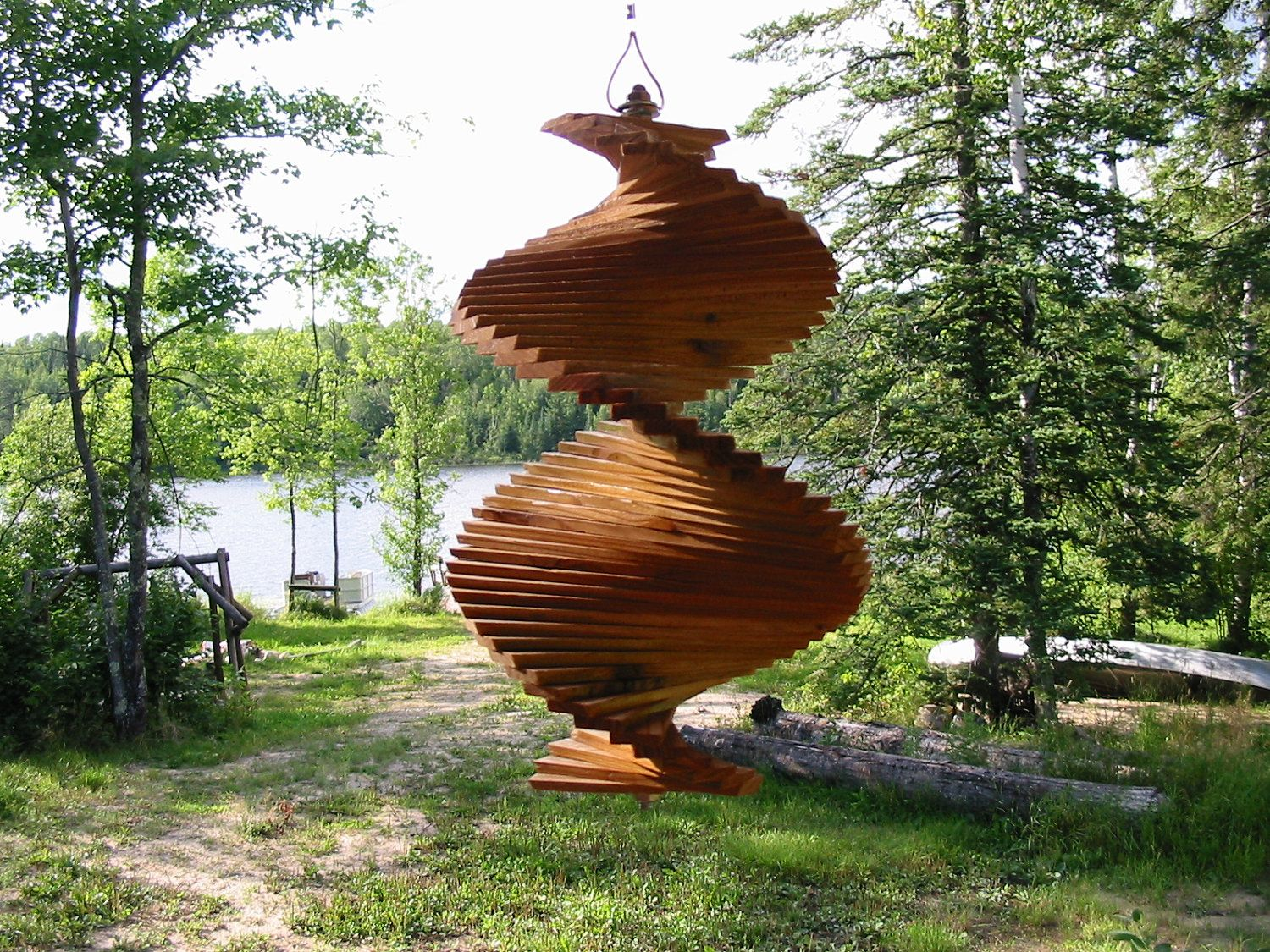 Silent Wind Chime Wind Spinner Spinner Wood By 640 x 480