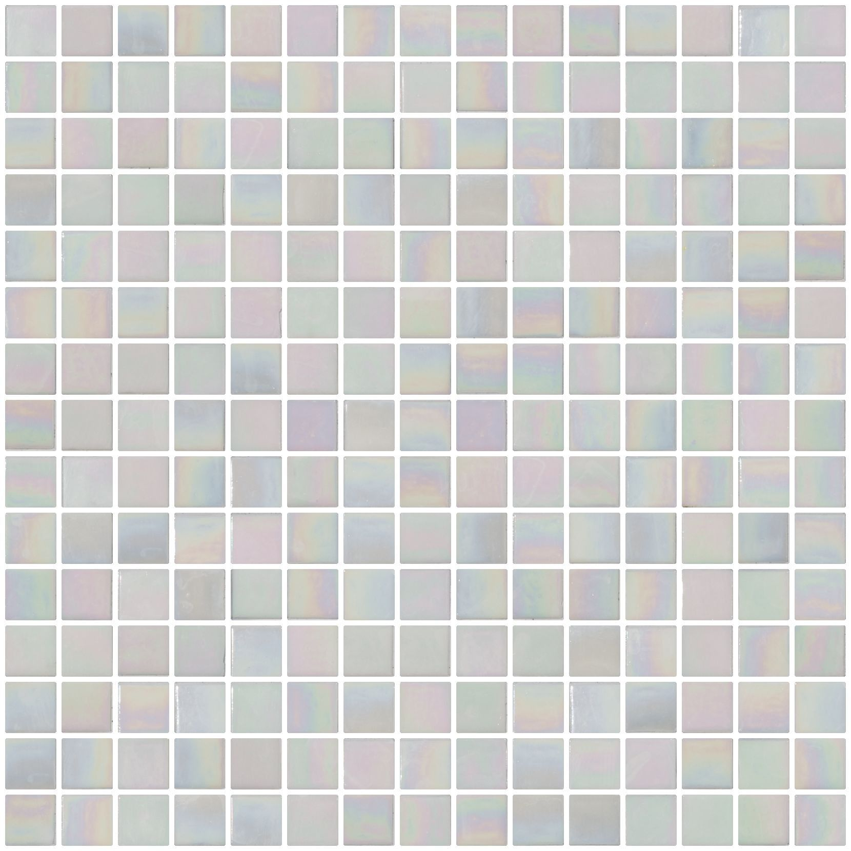Glass Tile - 3/4 Inch Mother of Pearl White Iridescent Glass Tile ...