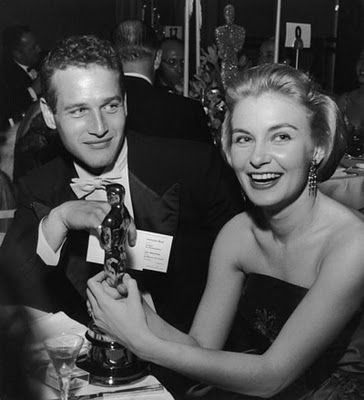 """Paul Newman & Joanne Woodward. Married for 50 years. Newman was famously quoted as saying """"I have steak at home. Why go out for hamburger?"""" He attributed their lasting union to """"correct amounts of lust and respect."""" Woodward on their love and marriage: """"Sexiness wears thin after a while and beauty fades, but to be married to a man who makes you laugh every day, ah, now that's a real treat."""" <3"""