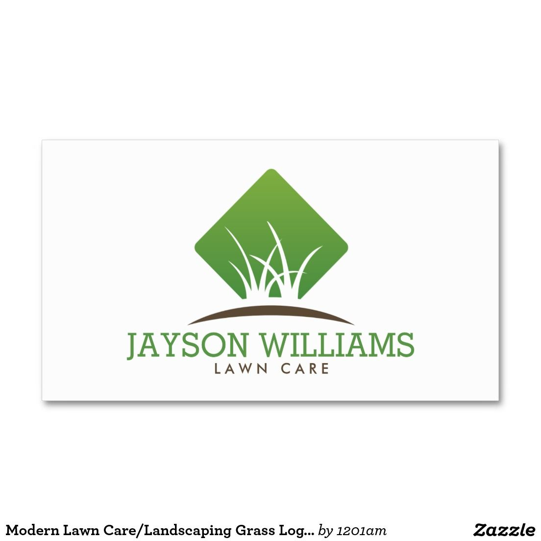 Modern Lawn Care/Landscaping Grass Logo I Double-Sided Standard ...