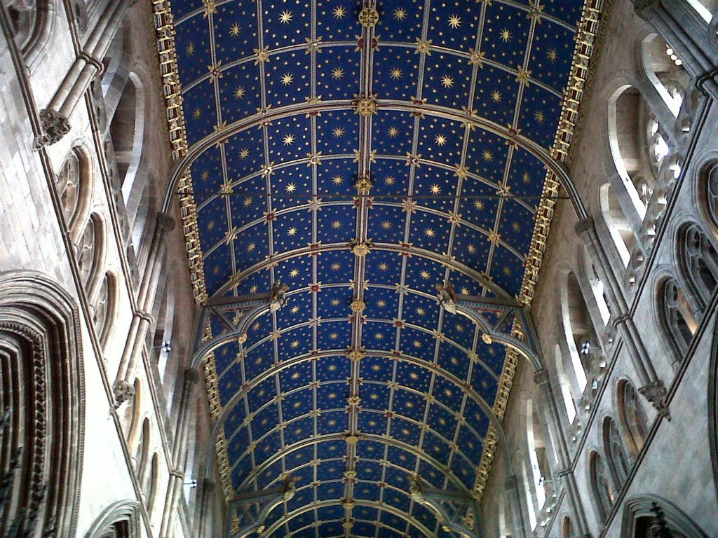 Carlisle cathedral ceiling glass sunlight for Coffered cathedral ceiling