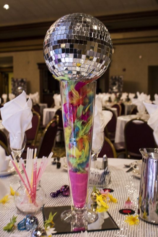 Disco decorations google search crafts for work for Decoration 70s party