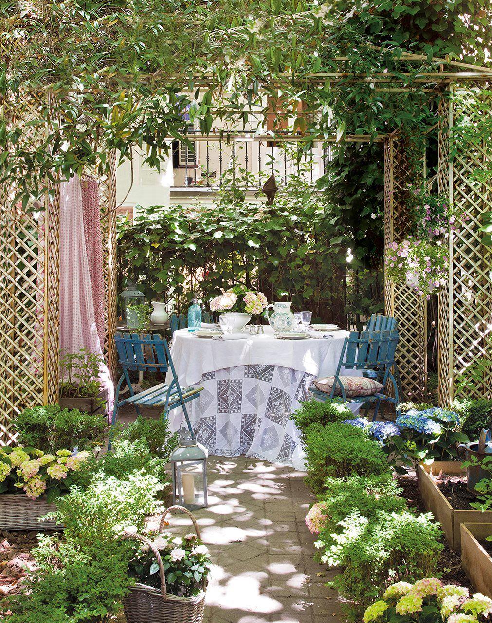 Para sobremesas muy naturales jardines patios porches for Jardines naturales pequenos