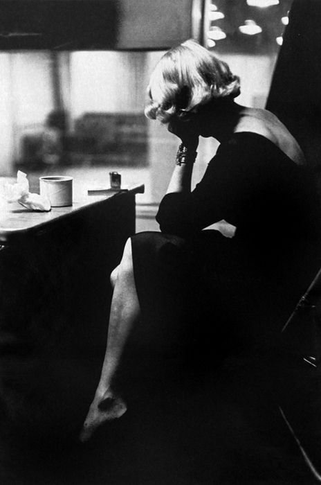 Marlene Dietrich at Columbia Records studio, New York City, 1952. Photo by Eve Arnold.