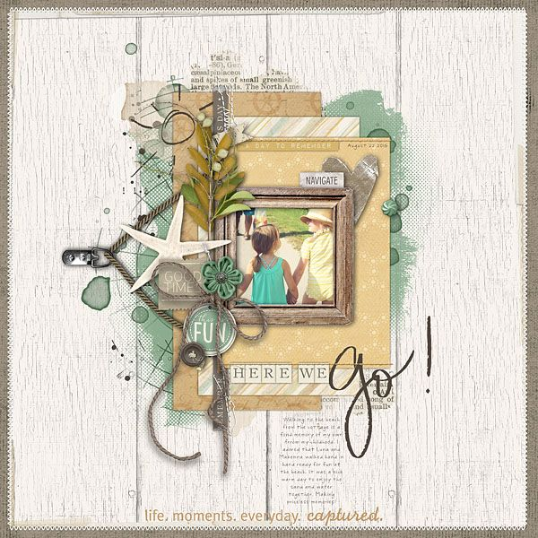 Here We Go by Kayleigh, scrapbook layout with 1 photo