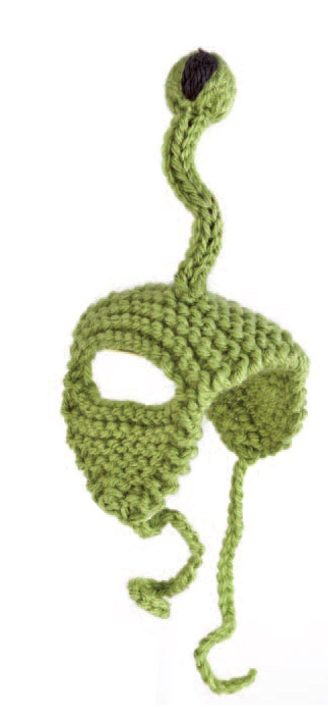 Knitted Alien Cat Hat (Free Knitting Pattern) | Knitting ...