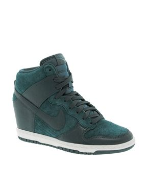 Nike Dunk Sky High Teal Wedge Trainers