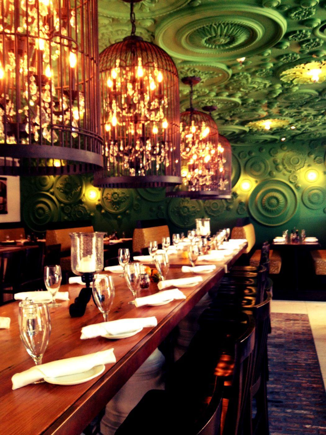 Barbatella restaurant naples fl ceiling medallions and birdcage
