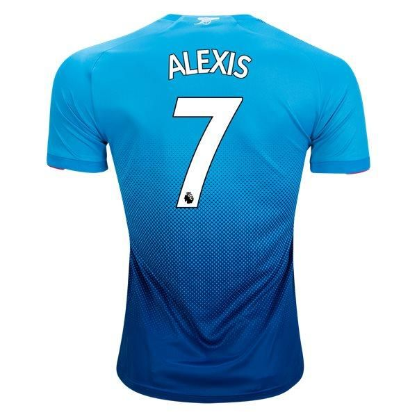 info for fef6c b84a4 Puma Alexis Sanchez Arsenal FC Away Jersey 17/18 (Blue ...