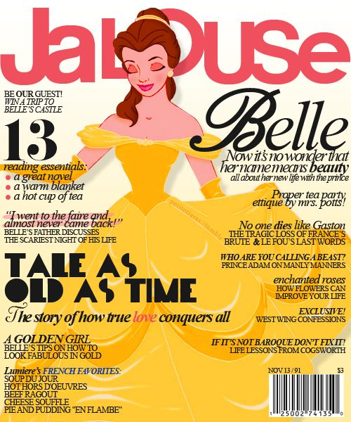 i'd much rather see disney princesses than most celebrities on the cover.