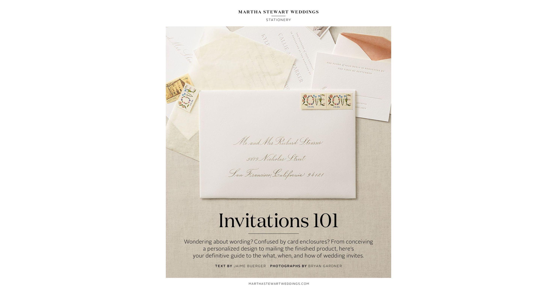 how to assemble wedding invitations martha stewart