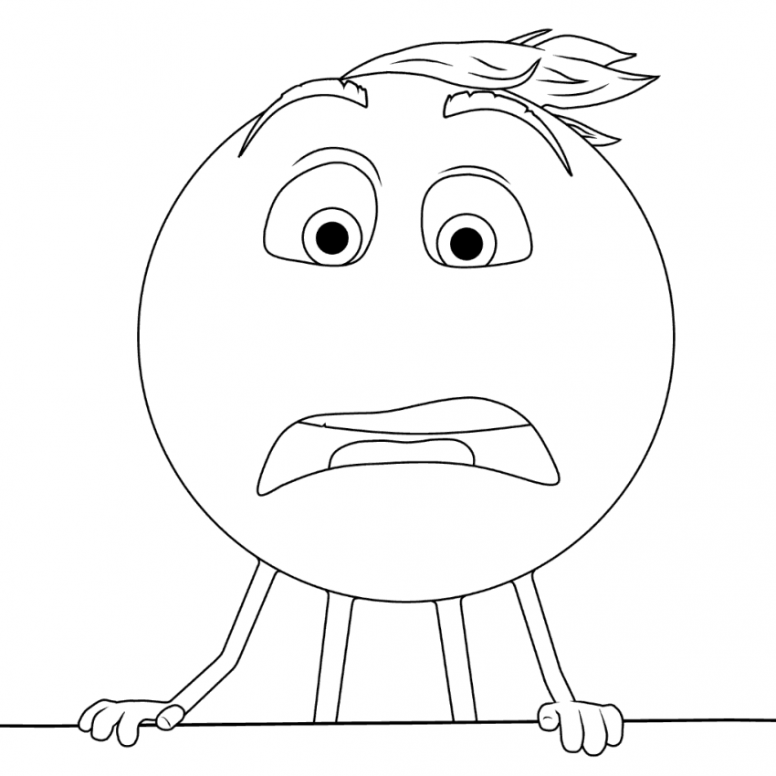 The Emoji Movie Confused Gene Coloring Page Emoji Movie Coloring Pages Emoji