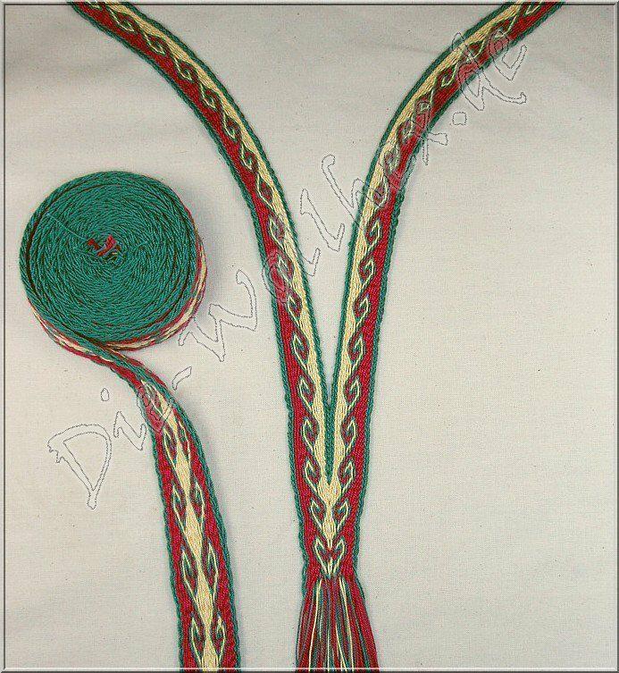 Brettchenborten Meisterlich Und Schnell Brettchenborte Kragen Aus Einem Stuck Brettchenweben Brettchenweben Muster Brettchenweberei