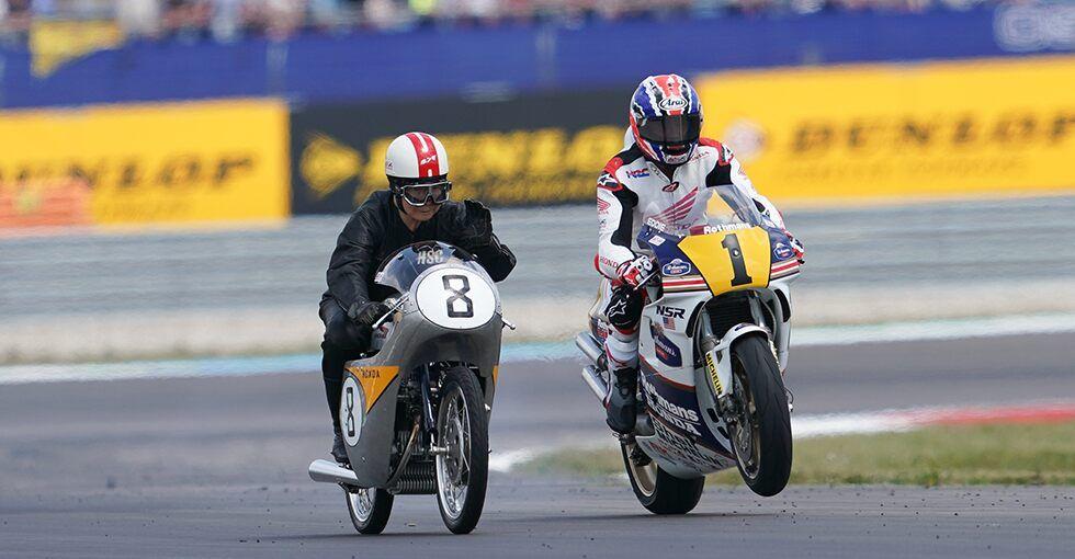 Honda Racing Legends Wow Assen MotoGP Crowd in 2020