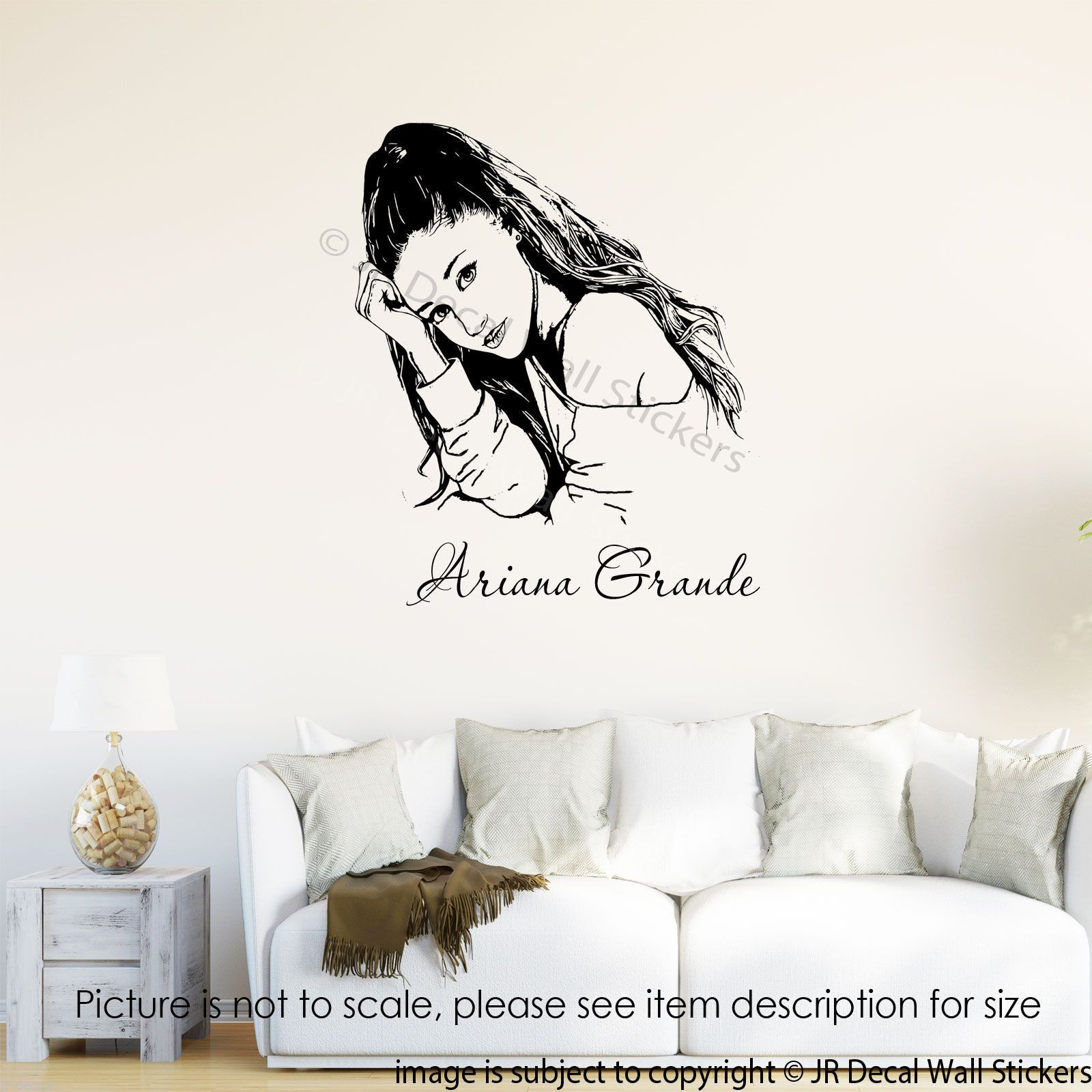 Ariana grande wall art sticker jrd cb 11 celebrity wall art ariana grande wall art sticker jrd cb 11 amipublicfo Image collections