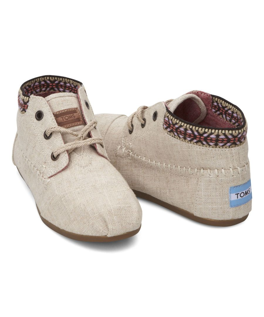 Look at this TOMS Burlap-Trim Tribal Boot on #zulily today!