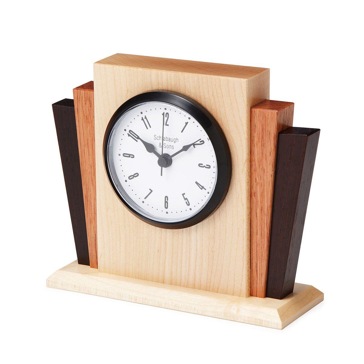 Deco Desktop Clock Desktop Clock Wood Clocks And Clocks