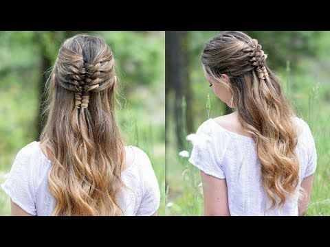 Cute Girls Hairstyles Youtube Floating Infinity Braid  Holiday Hairstyles  Cute Girls Hairstyles
