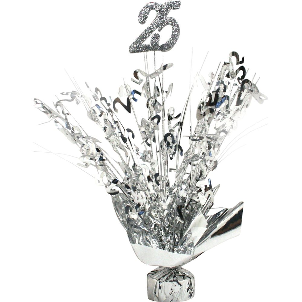 25th Wedding Anniversary Centerpiece Ideas: 25th Anniversary Silver Centerpiece