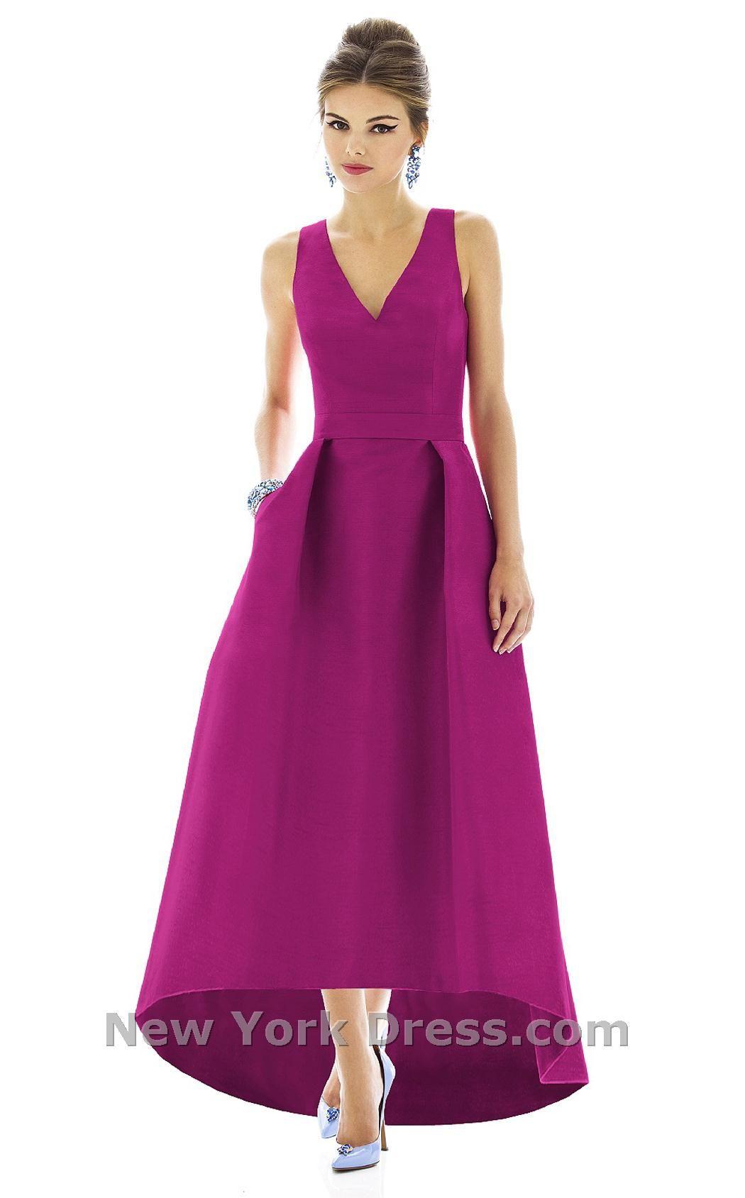Hermosa Vestido De La Dama De Honor De Alta Baja Ideas - Vestido de ...