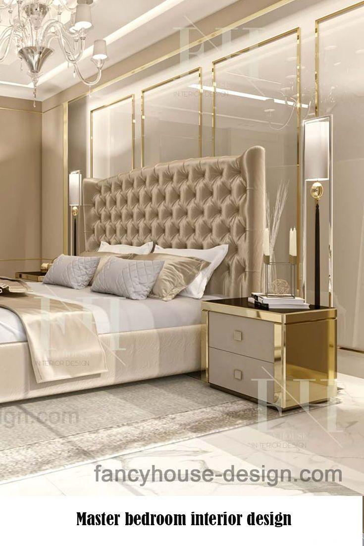 Schlafzimmer Beige Gold Modern