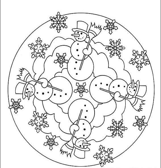 Kis Mevsimi Mandala 15 Mandala Boyama Sayfalari Kardan Adam