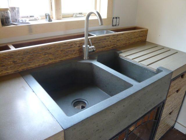 kitchen sink inspiration concrete sink