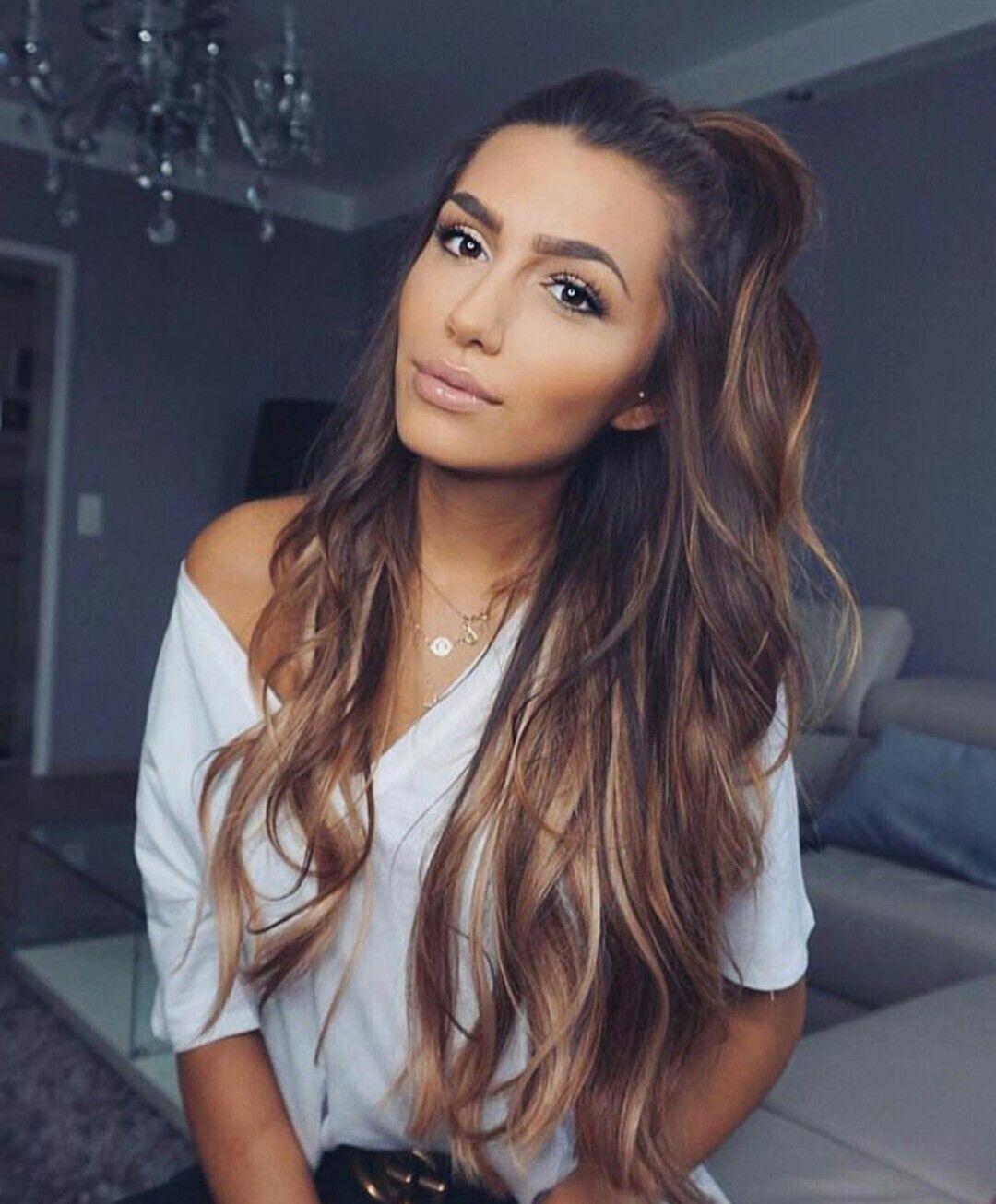 Caramel Highlights Hair Color For Brown Skin Hair Styles Long Hair Styles