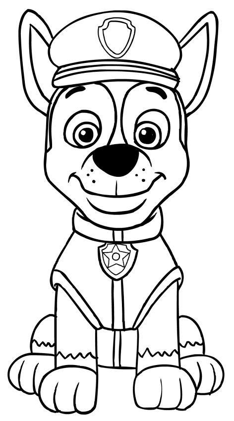 Paw Patrol Chase Coloring Pages Paw Patrol Coloring Paw Patrol